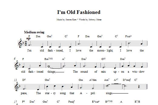 I'm Old Fashioned Sheet Music