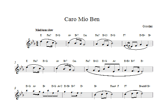 Caro Mio Ben Sheet Music