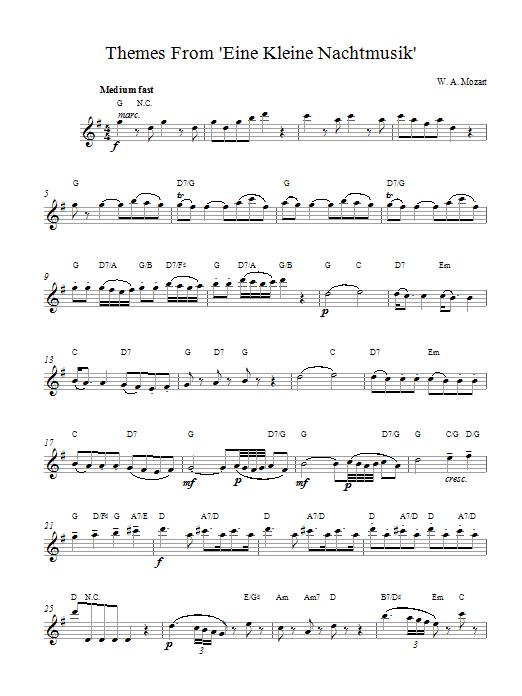 Eine Kleine Nachtmusik Partition Digitale