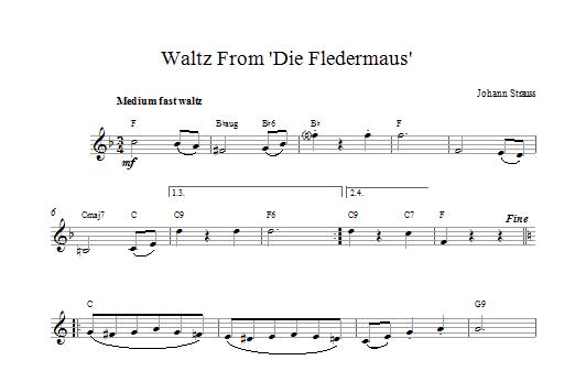 Die Fledermaus Waltz Sheet Music
