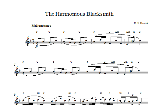 The Harmonious Blacksmith Sheet Music