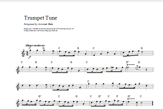 Trumpet Tune Sheet Music
