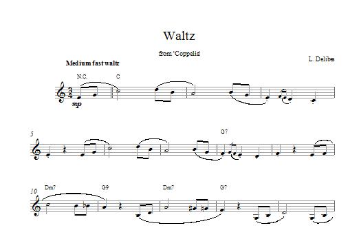 Coppelia Waltz Sheet Music