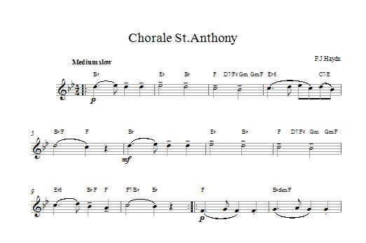 Chorale St.Anthony Sheet Music