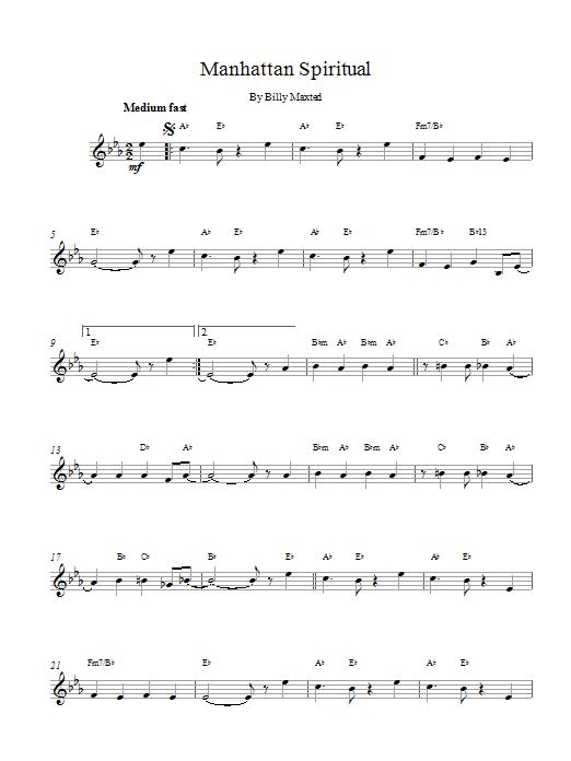 Manhattan Spiritual Sheet Music