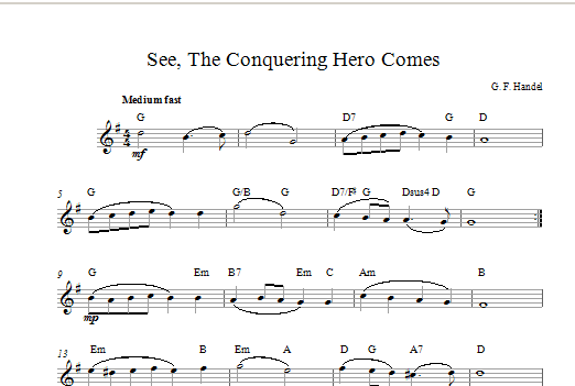 See The Conquering Hero Comes Sheet Music
