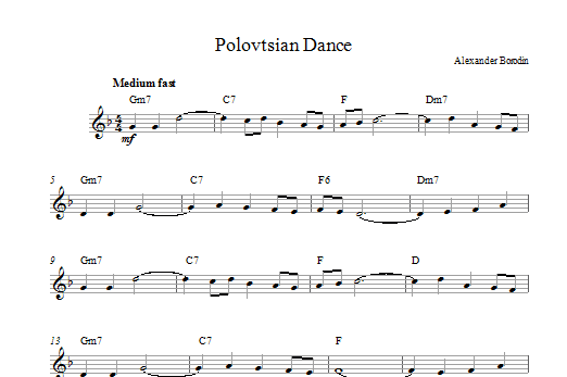 Polovtsian Dance Theme Sheet Music