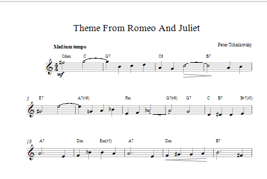 Romeo And Juliet Sheet Music