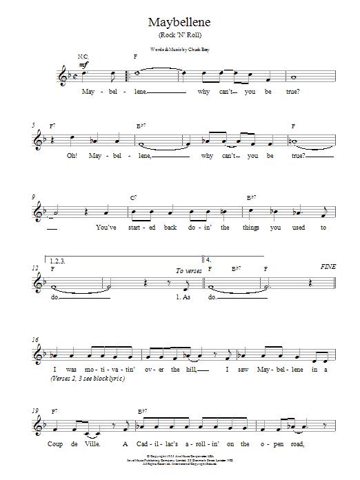 Maybellene Sheet Music