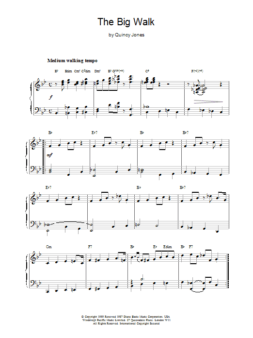 The Big Walk Sheet Music