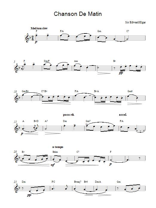 Chanson De Matin Opus 15, No. 2 Sheet Music