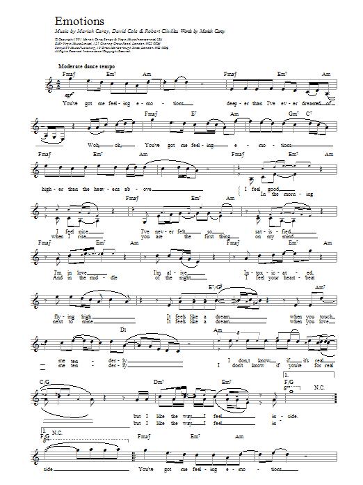 Emotions Sheet Music