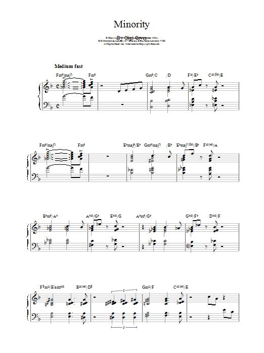 Minority Sheet Music