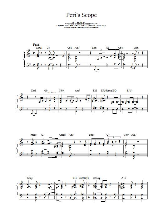 Peri's Scope Sheet Music