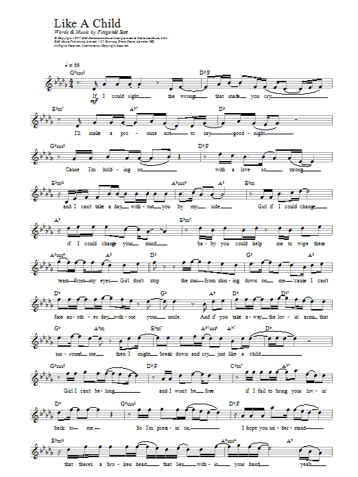 Like A Child Sheet Music