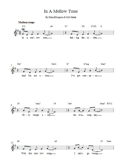In A Mellow Tone Sheet Music