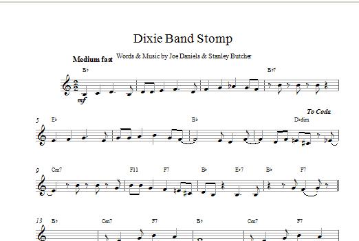 Dixie Band Stomp Sheet Music