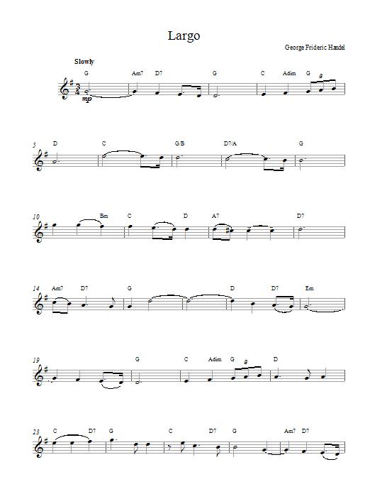 Largo (from Xerxes) Sheet Music