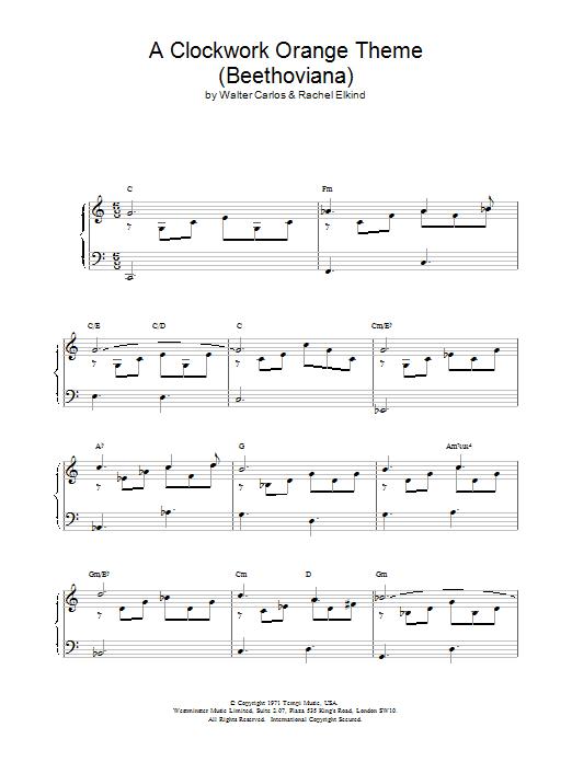 A Clockwork Orange Theme (Beethoviana) Sheet Music