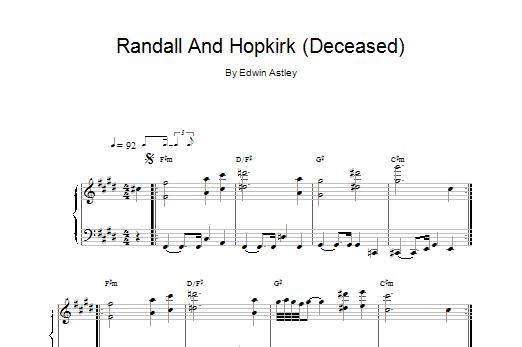 Randall And Hopkirk (Deceased) Sheet Music