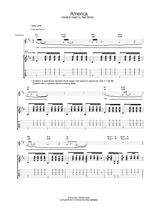 America (Guitar Tab)