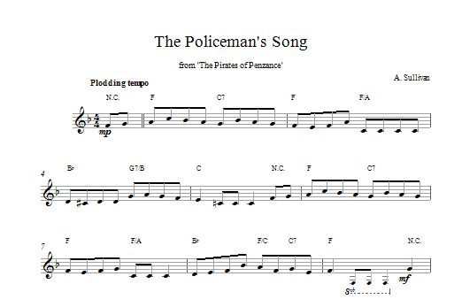 Policeman's Song (from The Pirates Of Penzance) Sheet Music
