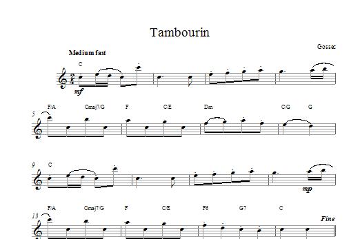 Tambourin Sheet Music