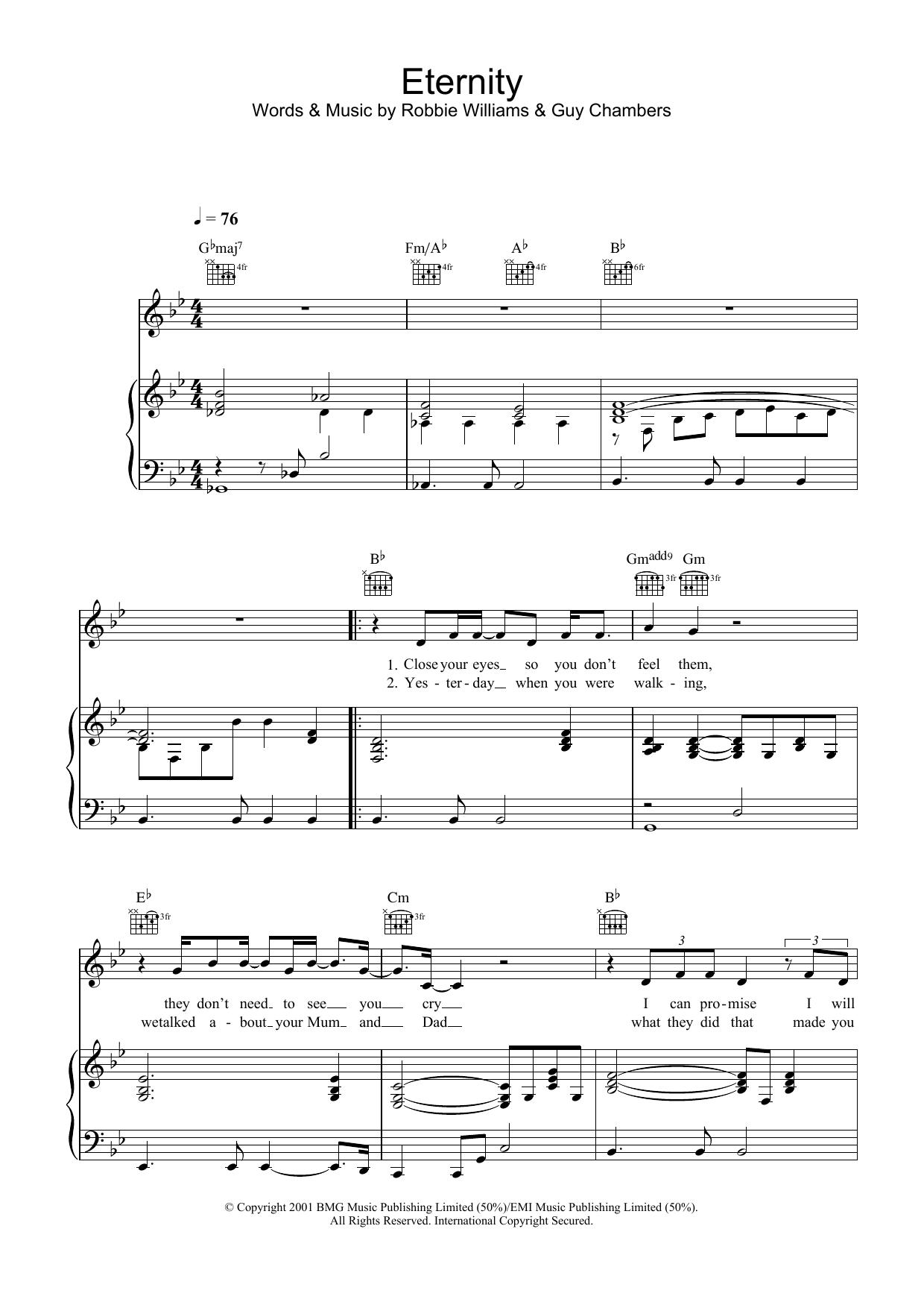 Eternity (Piano, Vocal & Guitar)