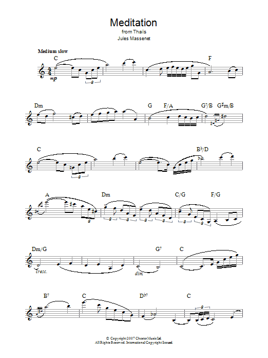 Meditation (from Thais) Sheet Music