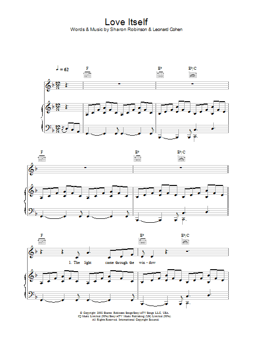 Love Itself (Piano, Vocal & Guitar)