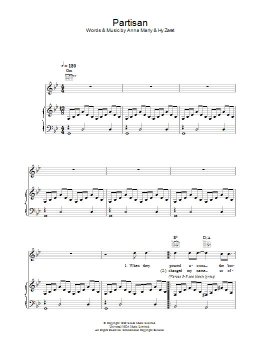 Partisan Sheet Music
