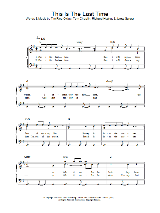 This Is The Last Time (Piano Solo)