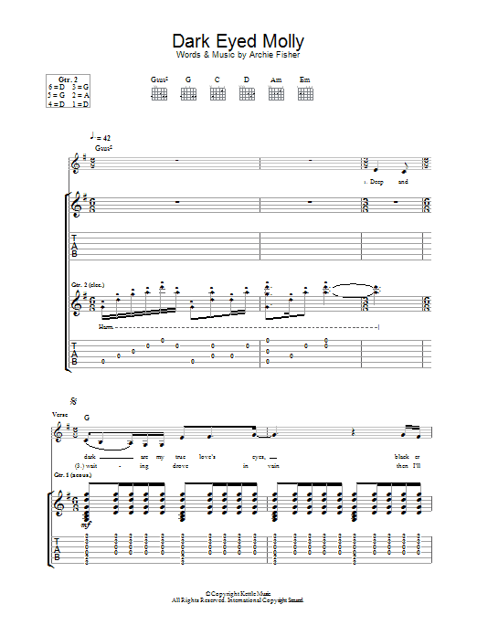 Dark Eyed Molly (Guitar Tab)