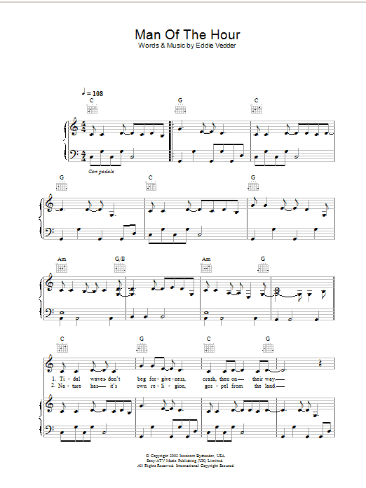 Man Of The Hour (from Big Fish) Sheet Music