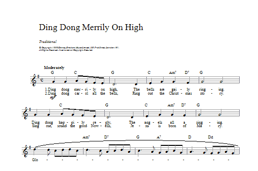 Ding Dong Merrily On High Sheet Music