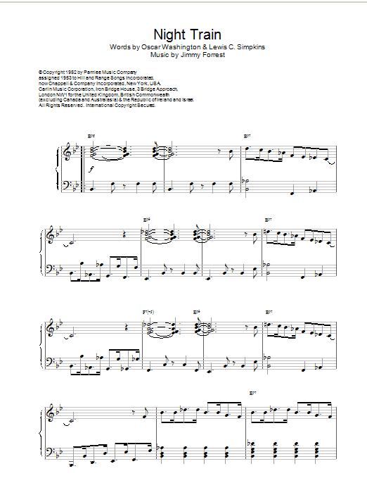 Night Train Sheet Music Direct