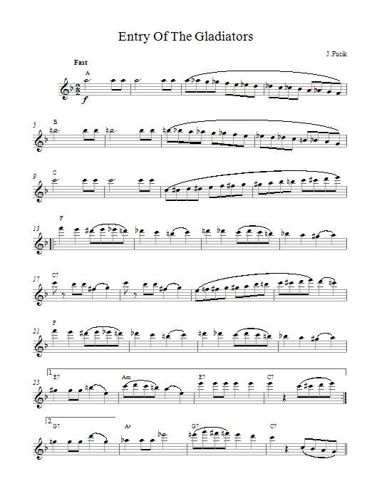 Entry Of The Gladiators Sheet Music