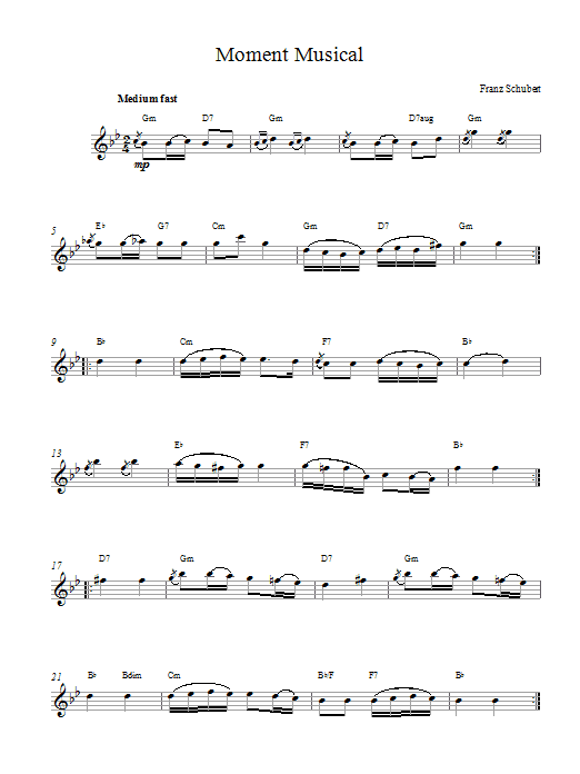 Moments Musicaux, No.3, Op.94 Sheet Music