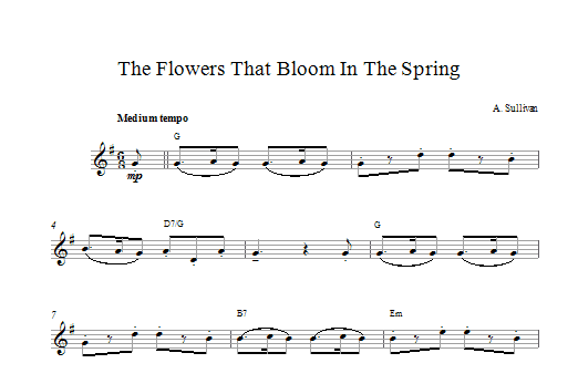 The Flowers That Bloom In The Spring Sheet Music