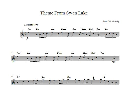 Swan Lake Sheet Music