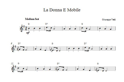 La Donna E Mobile (from Rigoletto) Sheet Music