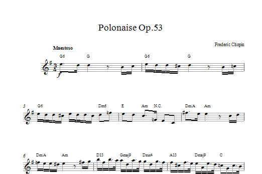 Polonaise Opus 53 Sheet Music