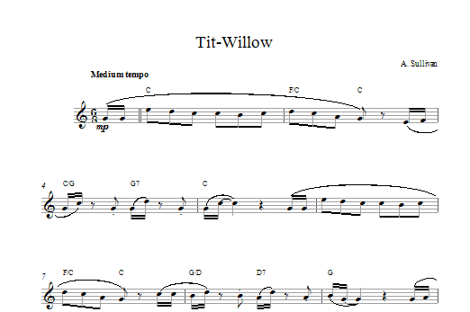 Tit Willow Sheet Music