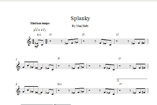 Splanky Sheet Music