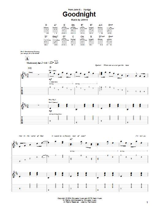 Goodnight Sheet Music