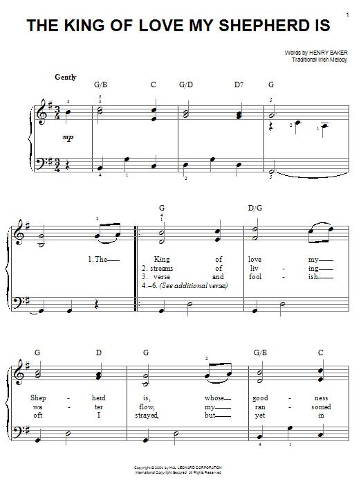 The King Of Love My Shepherd Is Sheet Music