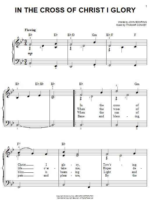 In The Cross Of Christ I Glory Sheet Music