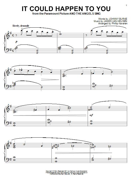 Partition piano It Could Happen To You de June Christy - Piano Solo