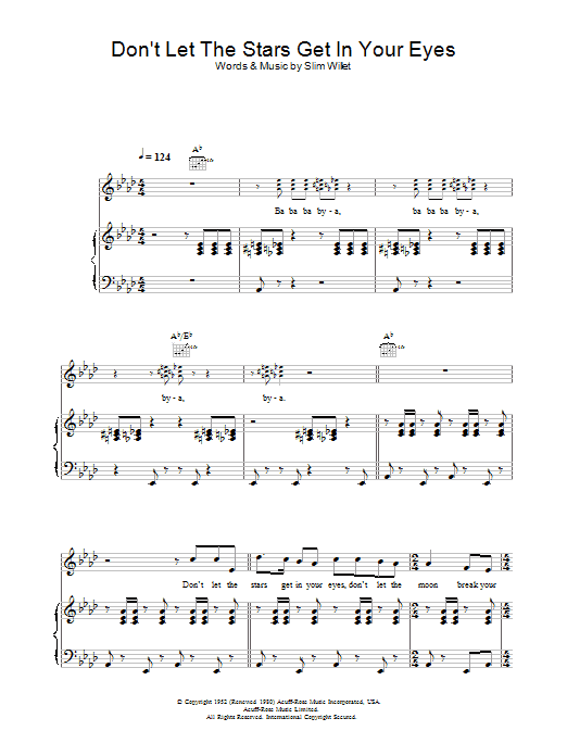 Don't Let The Stars Get In Your Eyes Sheet Music