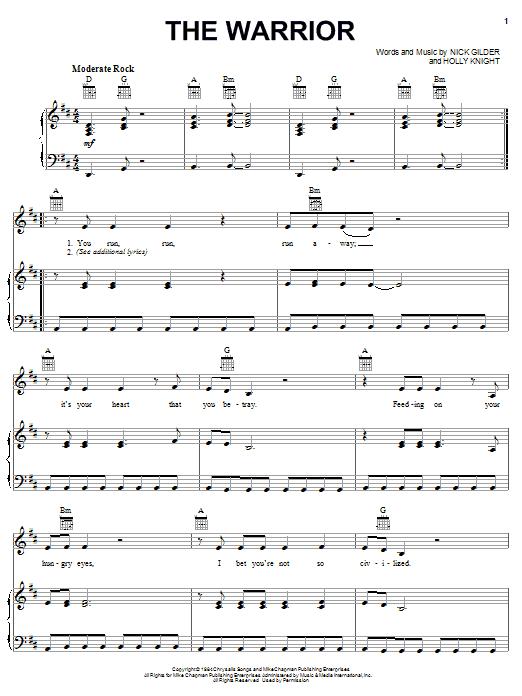 The Warrior Sheet Music